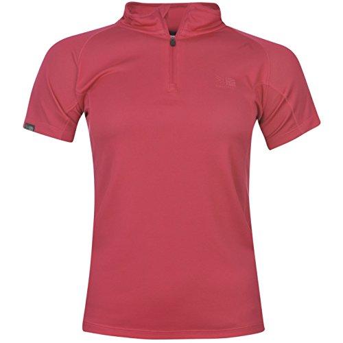 41Gs09pmL2L BEST BUY UK #1Karrimor Womens Aspen Zip T Shirt Ladies Short Sleeves Tee Top Bold Pink (M) 12 price Reviews uk