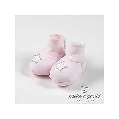 Pasito a pasito-Chaussons de naissance Etoile rose - Rose clair