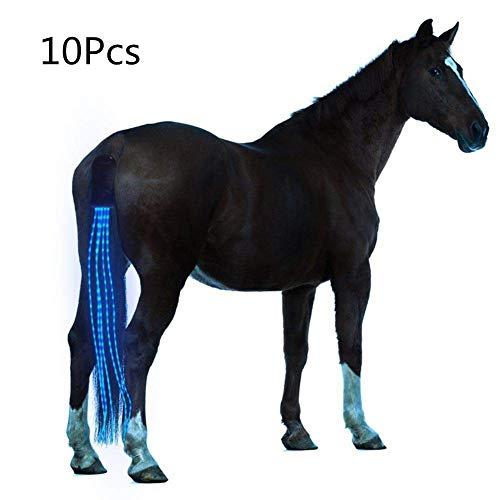 Arzja 10 Pezzi Coda di Cavallo USB A Pagamento Guidato Pettorina per Cavalli Equestre AllAperto Gli Sport Equitazione Coda Decorazione 100CmBlu