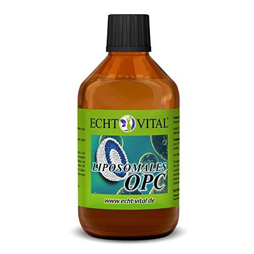 ECHT VITAL Liposomales OPC   Traubenkernextrakt - flüssig, hochdosiert & laborgeprüft   200 mg OPC je Tagesdosis   Premium OPC aus französischen Trauben   hohe Bioverfügbarkeit   250 ml