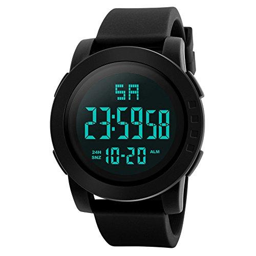 IG-Invictus Männer Analog Digital Military Armee Sport LED wasserdichte Armbanduhr HONHX Elektronische Uhr 5004-653 Schwarz