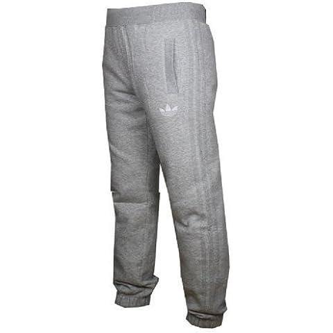 Adidas Originals con immagine di da uomo con trifoglio da allenamento in pile con gamba larga tuta per una migliore pantaloni nuovo (XL, grigio)