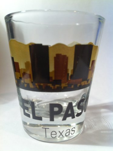 El Paso Texas Sunset Skyline Shot Glass by World By Shotglass