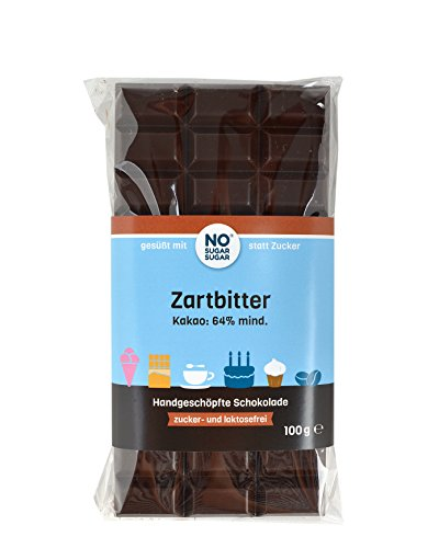 NO SUGAR SUGAR | Zartbitter Schokolade (100 g) vom Konditor, zuckerfrei