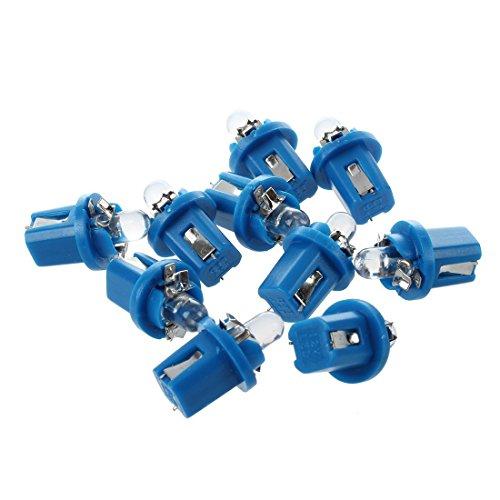 SODIAL(R) 10 Gauge X T5 auto blu LED del precipitare lampadina del cruscotto luce della lampada