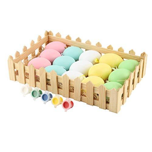 Jeffergrill Osterei, künstliches Ei DIY Dekor Ei Osterei Spielzeug hängende Verzierung