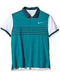 Polo de manga corta para hombre Nike Premier Advantage Roger Federer rayas, radianes verde/blanco, XXL, 709504-309