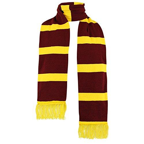Sofias armario Unisex Bufanda De Punto Harry Potter balón de fútbol Tema Equipo Cálido Granate Amarillo
