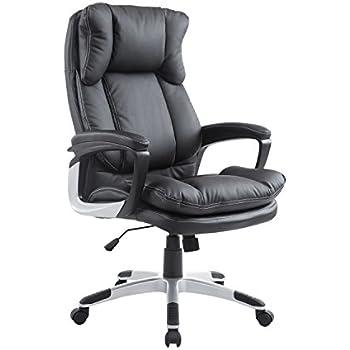 Bürosessel holz  Homcom® Bürosessel Chefsessel Drehstuhl Bürostuhl ...