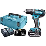 Makita DDF482RTJ Perceuse visseuse + 2 batteries 18V 5Ah Li-ion + coffret Makpac, Bleu