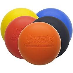 Protone - Pelota de Lacrosse - Sirve para Masajear Puntos de Presión, Crossfit, Terapias de Rehabilitación y Fisioterapia (rojo)