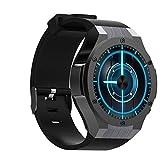 UTHDELD Smartwatch Wasserdichte intelligente Uhr MTK6572 1.39inch 400 * 400 GPS-WiFi 3G-Herzfrequenzmonitor 16GB + 1GB für Android-Kamera IOS 5.0M, Schwarz, mit Kleinkasten