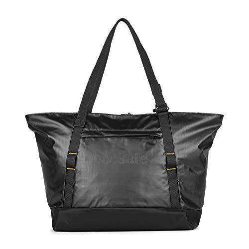 Pacsafe Dry Lite Tote 30 L Beach Bag, große wasserfeste Strandtasche, Anti-Diebstahl Schultertasche, wasserresistente Tragetasche mit Diebstahlschutz, Sicherheits-Features - 30 Liter, Schwarz/Black -