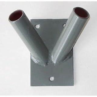 Armar Grau Fahnenstange Halter Metall Wandhalterung 2Flagge Pole