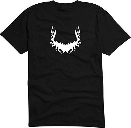 T-Shirt Herren feuer Wurzel Schwarz
