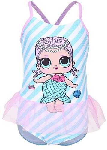 L.O.L. Surprise ! Offizieller Produkt Badeanzug Für Mädchen Mit LOL Dolls Merbaby, Splash Queen, Diva, Bienenkönigin, Dollface, Cosmic Queen, Grunge Grrrl Und Funky Q.t. (11/12 Jahre, (Schwimmen Kostüm Mädchen Speedo)
