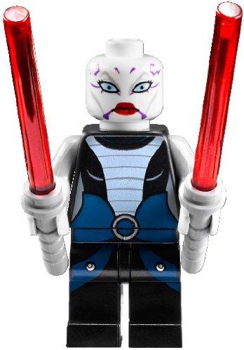 LEGO® Star Wars™ Minifigur Asajj Ventress™ (aus Bausatz 7957) mit zwei Laserschwertern