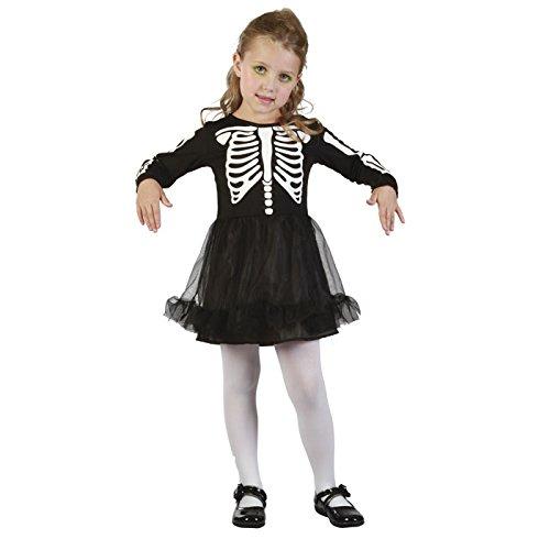 64-Kostüm Baby Skelett Mädchen-92/104cm-Einheitsgröße ()