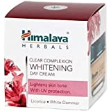 Himalaya Herbals Clear Complexion Whitening Day Cream, 50gm (Licorice. White Dammer). Lightens Skin Tone, with UV Protection.