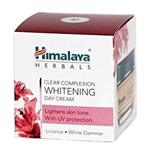 Himalaya Herbals Clear Complexion Whitening Day Cream, 50gm (Licorice. White Dammer). Lightens Skin Tone, with UV Protection. Pack of 1 (50gm)