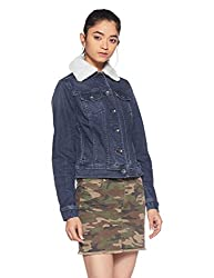 Pepe Jeans Womens Cotton Jacket (PILT200625_Ind-Blue_Large)