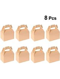 Amosfun Cajas de Regalo de Papel con la manija del convite del Caso del Caramelo Favores