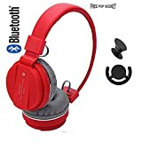 #7: Intensekart SH12 Red Wireless Bluetooth Headphone with FM and SD Card Slot (Red)