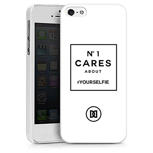 Apple iPhone X Silikon Hülle Case Schutzhülle Selfie Numberone Statements Hard Case weiß