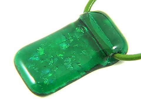 Sale Handmade Dichroic Glass Pendant, 3.5cm x 2cm & Includes Gift Box
