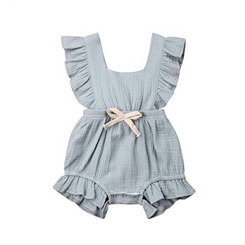 WANGSAURA 0-24 Monat Kleinkind Baby Mädchen Junge Outfits Einfarbig Strampler Ärmellos Spielanzug Baby Toddler Baby Neugeborenes Kinderkleidung (Für Kinder Kleidung Weihnachten)