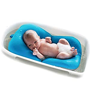 Baby Bather Infant Bath Pad, Moonvvin Floating Soft Baby Bath Pillow & Lounger Newborn Pad Tub Cushion