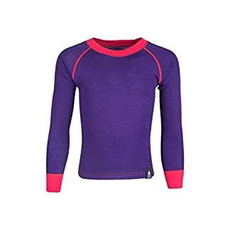 Mountain Warehouse Merino Kids Round Neck Thermal Baselayer Top – Full Sleeves, Warm Sweater, Light, Breathable, Quick Dry Childrens T-Shirt - Great for Winter Camping 3
