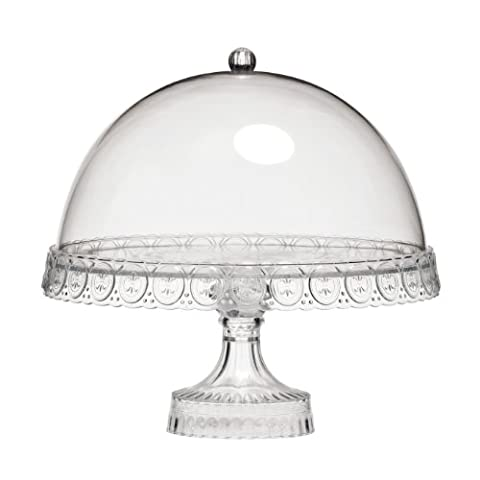 Premier Housewares - Présentoir à Gâteau avec Dôme Transparent (Import Grande (2 Torta Way)