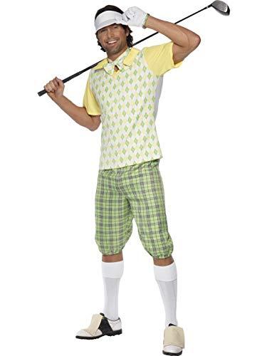 Halloweenia - Herren Männer Dandy Schönling Golfer Schnösel Kostüm mit Schirmmütze, Shorts, Oberteil, Fliege und Handschuhen, perfekt für Karneval, Fasching und Fastnacht, M, Grün