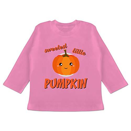 Anlässe Baby - Sweetest Little Pumpkin Halloween - 3-6 Monate - Pink - BZ11 - Baby T-Shirt Langarm (Womens Halloween-kostüme Spaß)