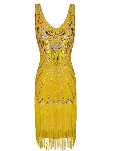 FAIRY COUPLE Robe de Vintage/ Robe de Bal Cérémonie pour Femme jaune M