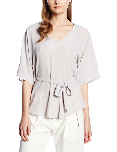 New Look Damen Kimono Belted, Grau (Mid Grey), 44 (Belted Kimono Top)