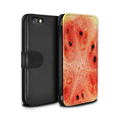 Stuff4 Coque/Etui/Housse Cuir PU Case/Cover pour Apple iPhone SE / Multipack (7 Designs) Design / Fruits Collection Melon d'eau