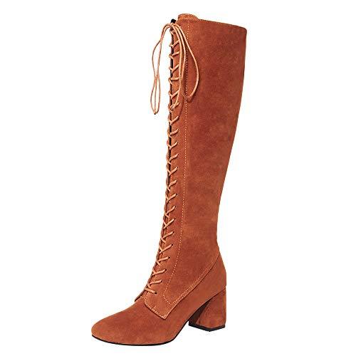 Stiefel Damen Stiefeletten Xinantime Damen Stiefel High Heels Overknees Stiefeletten Herbst Winter Schuhe Boots Freizeitschuhe Knöchel Stiefel Schneestiefel 35-43