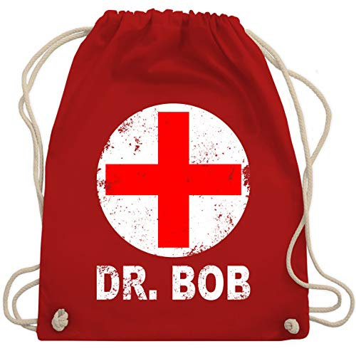 Karneval & Fasching - Dr. Bob Kostüm Kreuz - Unisize - Rot - WM110 - Turnbeutel & Gym Bag