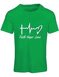lepni.me Camiseta Mujer Fe - Esperanza - Amor - 1 Corintios 13:13