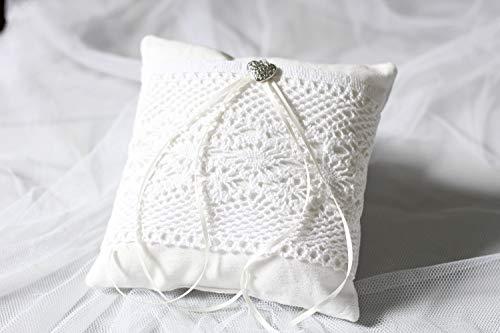 Ringkissen Lace Hochzeit Unikat handmade