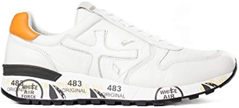 PREMIATA Herren MICK2828 Weiss Stoff Sneakers