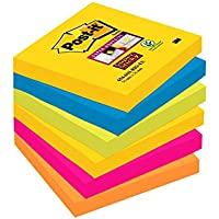 Post-it Super Sticky 654-6SS-RIO Notes repositionnables 76 x 76 mm Rio