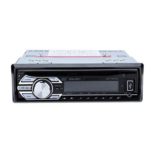 CD-Autoradio Qiilu Auto CD-Tuner Hochleistungstuner mit drahtlose Fernbedienung USB SD AUX-IN FM Radio