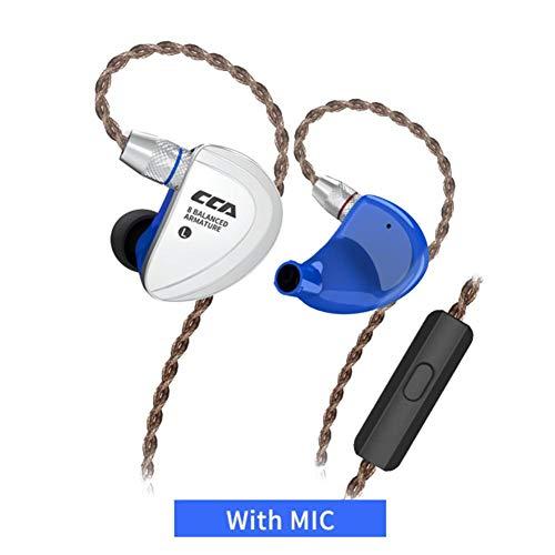 TUANMEIFADONGJI In-Ear-Kopfhörer CCA C16 8BA-Antriebseinheiten 8 Ausgeglichener Anker HiFi-Mikrofon-Headset Sport Noise Cancelling-Kopfhörer Mit abnehmbarem 2PIN-Kabel abziehen Panasonic Portable Headset