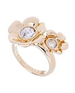 Karen Millen Twin Flower Gold Ring Medium- Size N
