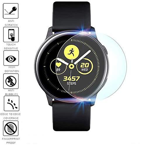 [2-Pack] FenebortPellicola salvaschermo attivo per Samsung Galaxy Watch, Pellicola proteggi-pellicola in TPU ultra-sottile [No Bubble] [a prova di esplosione] per Samsung Galaxy Watch Active 2019