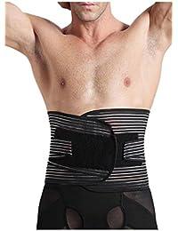 Hombre s Deportes Ceñidores Corsé Control De Abdomen Cintura Cinturón De Entrenador kEONcf3Np