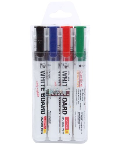 Camlin-PB-White-Board-Marker-Pack-of-4-Assorted-Colors-Black-Blue-Red-Green